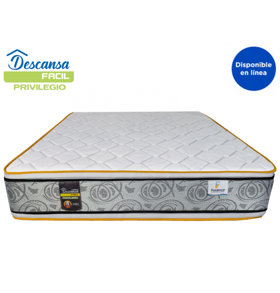 COLCHON QUEEN SIZE DESCANSA FACIL PRIVILEGIO