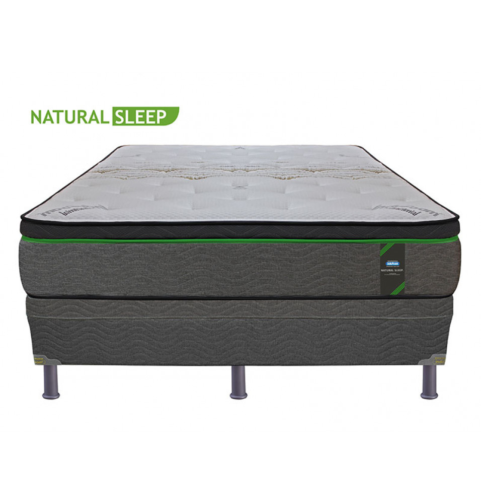 CAMA QUEEN INDUFOAM NATURAL SLEEP BASE ACOLCHADA