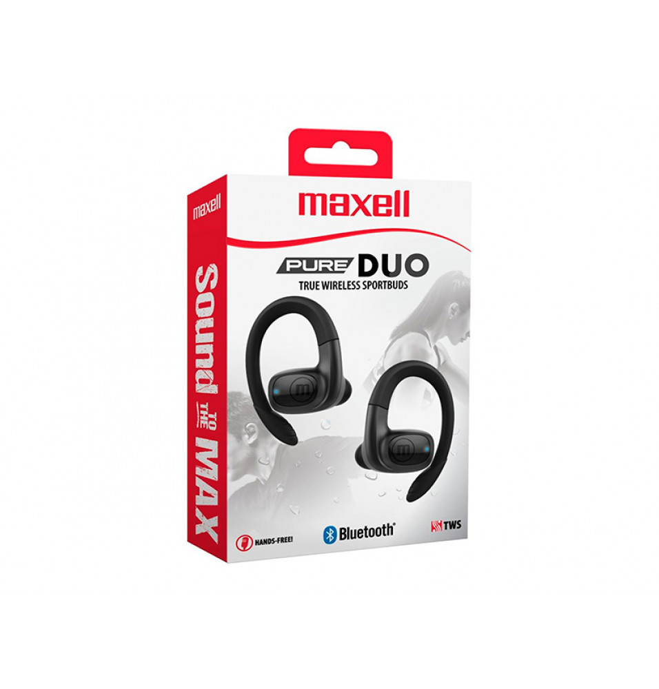Audífonos In-Ear Maxell Pure Duo True Wireless Sportbuds Inalámbricos Negro