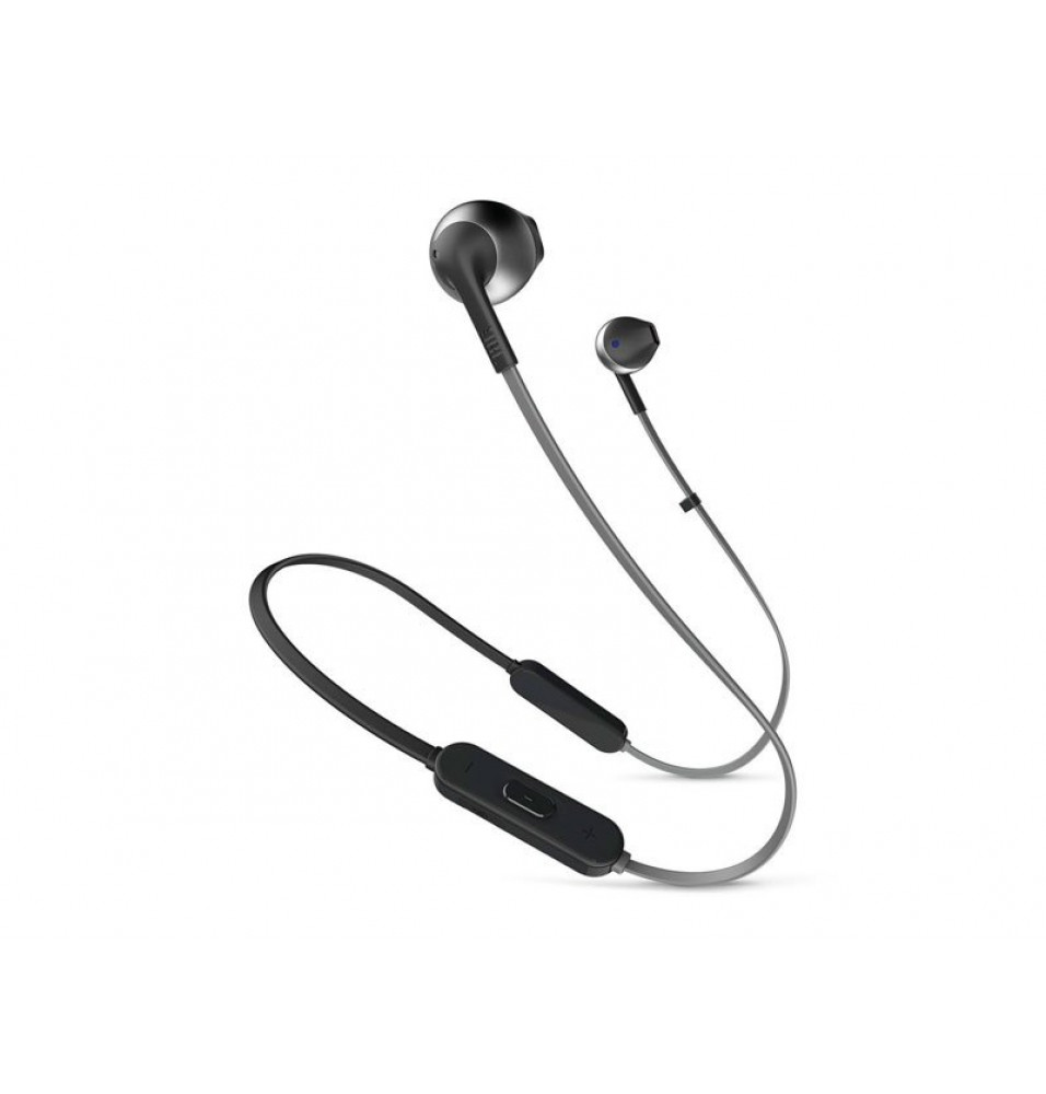 Audífono JBL T205 In-Ear Black Inalámbrico con Bluetooth y Micrófono